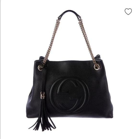 Gucci Handbags - GUCCI Soho Chain Shoulder Bag